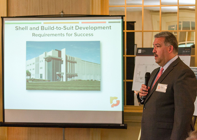 Matherly speaking at the Greater Richmond Partnership's Investor Forum in May.