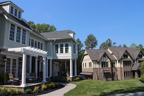 Homesmith Construction's and Biringer Builders' homes, from left.