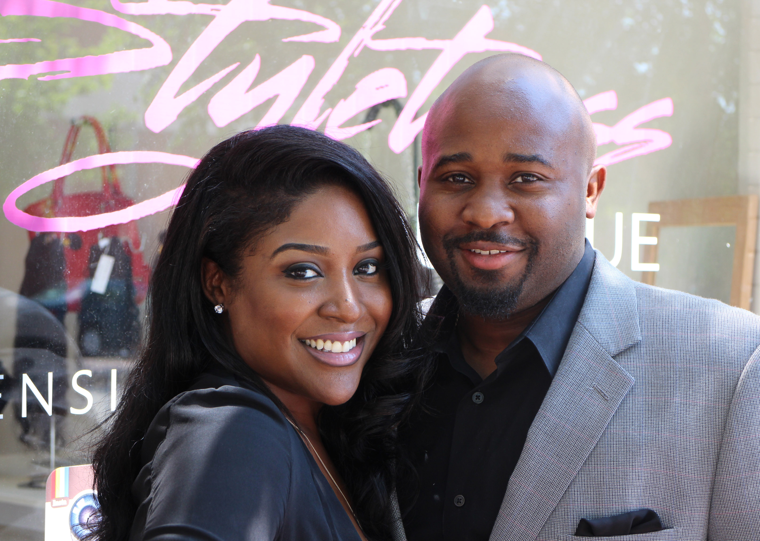 Kaneik Ferguson, founder and CEO of Richmond-based Styletress (left) helped launch her business with husband Trevor Ferguson (right).