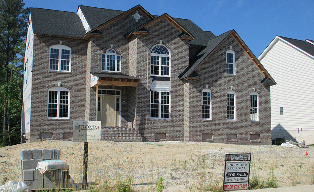 One of the further-along Romm homes in The Cameron at Grey Oaks. (Jonathan Spiers)