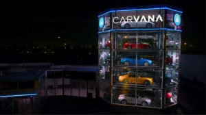 Carvana's proposed 'car vending machine' tower, as shown in a video.