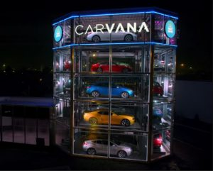 The vending machine tower, as shown in a video from Carvana.