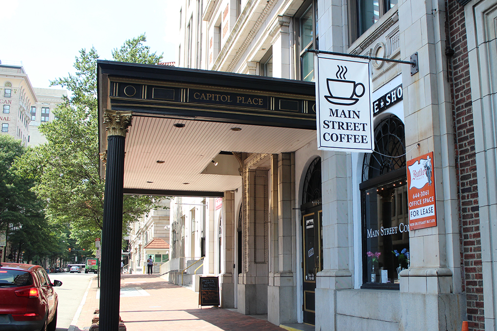 The coffee shop opened in June 2015 on the ground floor of the Capital center downtown. (J. Elias O'Neal)