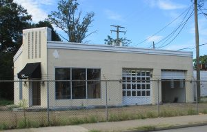 The former gas station where Black Hand Coffee is moving its roasting operation and will open a cafe.