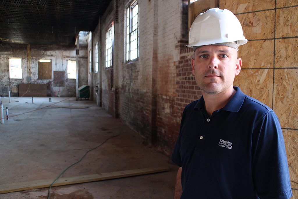 Nolen Blackwood inside the site at 1529 W. Main St. (Michael Thompson)