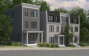 A rendering of the planned Sugar Bottom rowhouses. (Courtesy Patrick Sullivan)