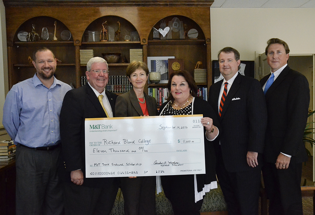 Richard Bland College of William & Mary and M&T Bank created the M&T Scholars at Richard Bland College endowment.