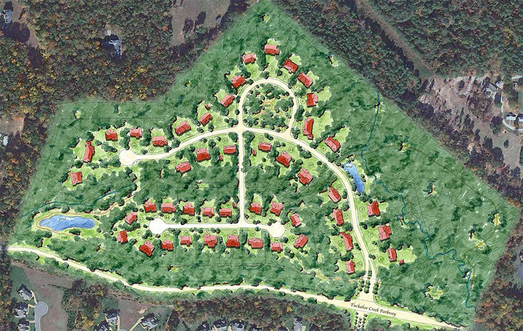 Site plan courtesy of Riverstone Properties.
