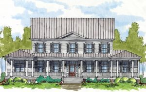 Rendering of a model home for the neighborhood. (Courtesy Riverstone Properties)