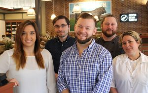 The Midlothian Burger Bach crew, from left: Britney Baker, Luke McMurtrie, Ryan Krenek, Daniel Swann, and Kristie Miller. (Michael Thompson)