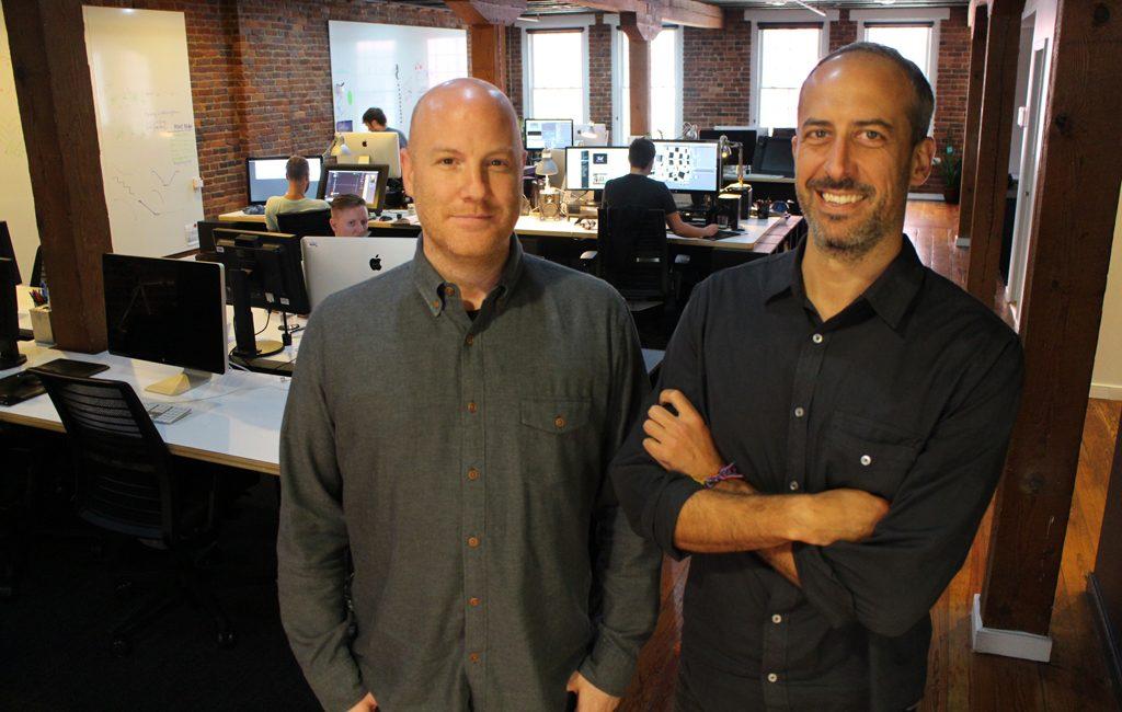Joe Montalbano, left, and Magnus Hierta in Hue & Cry's Shockoe Slip space. (Jonathan Spiers)