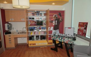 Kerrigan's Korner is stocked with electronics, toys and games to help pass the time of children and the families receiving long treatments for their illnesses. (Courtesy Ryan Kerrigan Foundation)