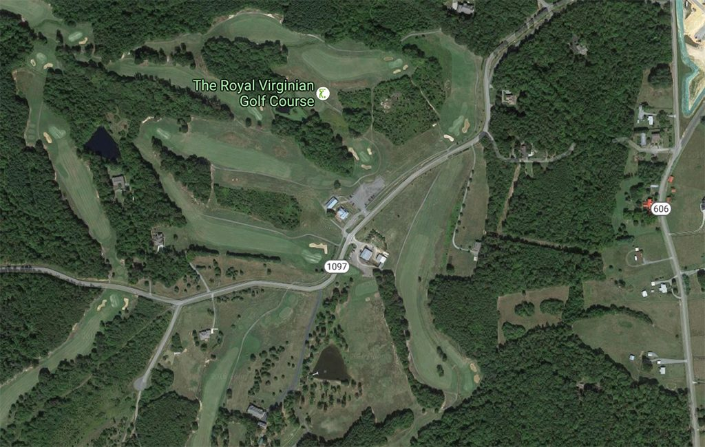An aerial view of the Royal Virginian Golf Course. (Google Maps)