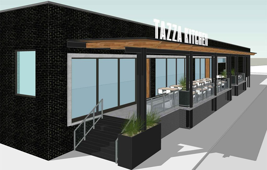 A preliminary rendering of the planned Tazza space in Scott's Addition. (Courtesy Tazza)