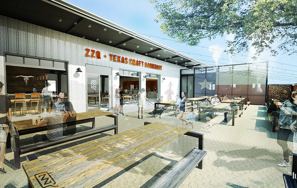 A rendering of the planned ZZQ courtyard. (Courtesy ZZQ)