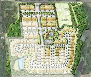 A site plan for Barley Woods. (Courtesy Cornerstone Homes)