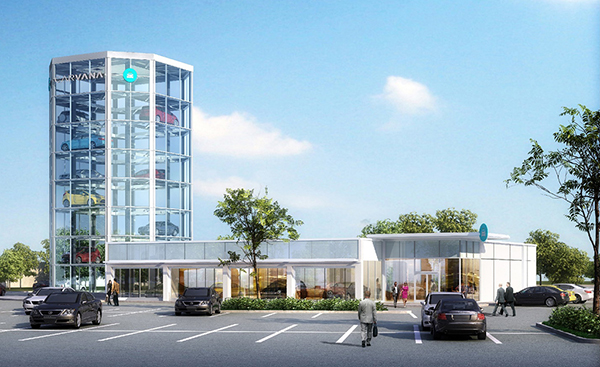 A rendering of the proposed Carvana tower in Short Pump.