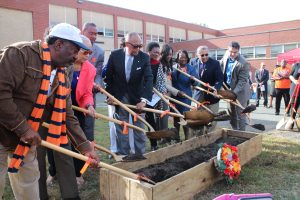 The groundbreaking ceremony marked the start of the project's site work.
