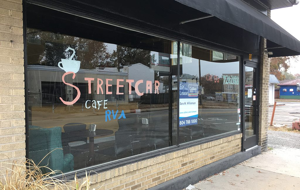 Streetcar Cafe at 10 E. Brookland Park Blvd. is no longer operational as a coffee shop. (J. Elias O'Neal)