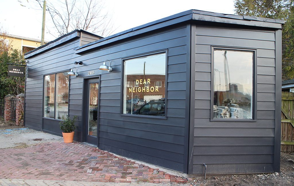 Dear Neighbor's newly opened outpost at 2415 Jefferson Ave. in Church Hill. (Jonathan Spiers)