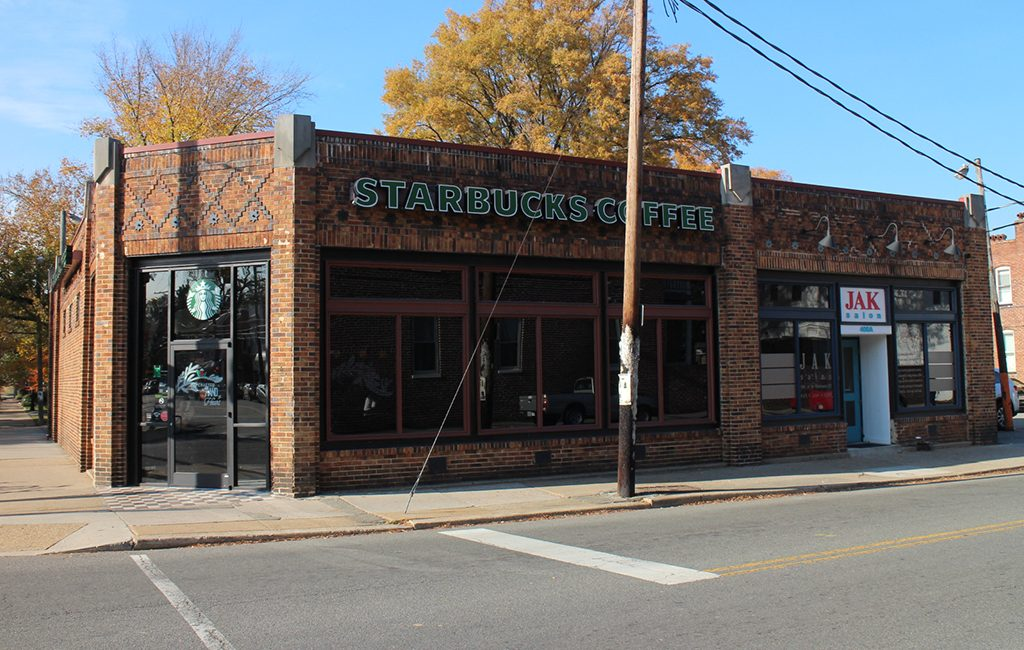 The Starbucks and salon at 400 N. Robinson St. (Kieran McQuilkin)