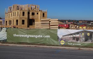 Construction is underway on townhomes at GreenGate. (Jonathan Spiers)