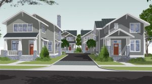 A rendering of the planned development near Libbie and Grove. (Courtesy Edward Hettrick)
