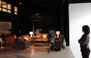 "The studio's ""video village"" space where clients can view shoots, complete with a kegerator. (Jonathan Spiers)"