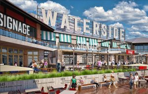 A rendering of the planned Waterside development, where Rappahannock would set up its next outpost. (Courtesy Cordish Cos.)