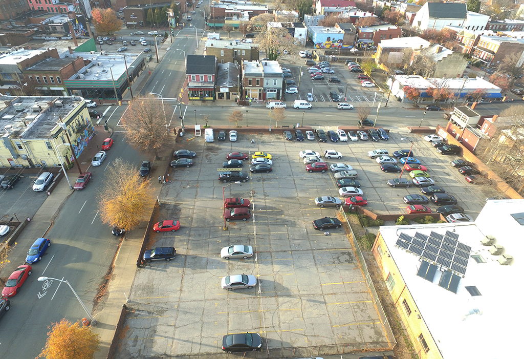The 0.75-acre surface parking lot at 200 E. Marshall St. was purchased Nov. 17. (Kieran McQuilkin)