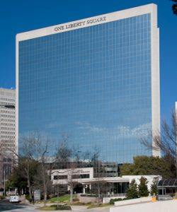One Liberty Square is a 17-story building with nearly 250,000 square feet of office space. (Courtesy Lingerfelt)