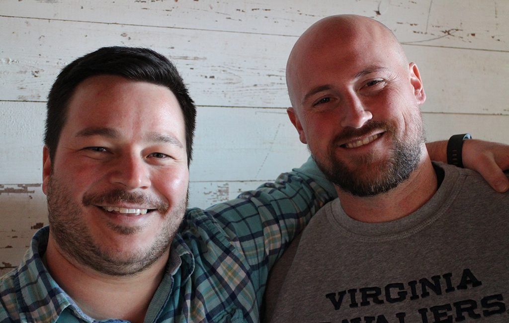 Kevin McGrath (left) and Steve Rogge are the owners of Wood & Iron Gameday. (J. Elias O'Neal)
