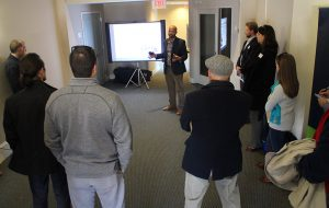 CPDC's Christopher Everett discusses the project during the tour. (Jonathan Spiers)