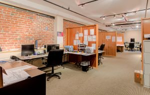 There are two vacant office spaces available in the 22,000-square-foot building. (Bryan Chavez)