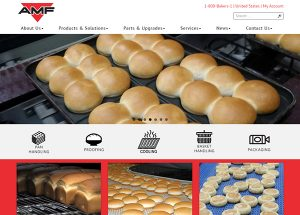 The Idea Center launched a new website for AMF Bakery Systems.