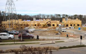 Work is underway on the nearly 300-unit Alta Stony Point apartment complex. (Jonathan Spiers)
