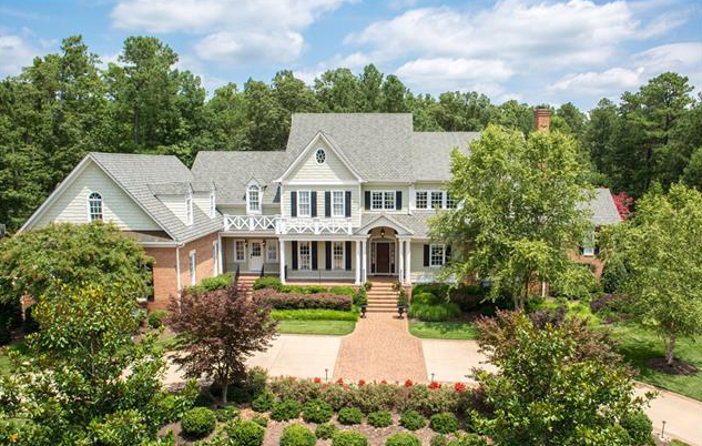 The 9,400-square-foot house sits at 13284 Barkstone Court in Goochland's Rivergate community. (Courtesy CVRMLS)