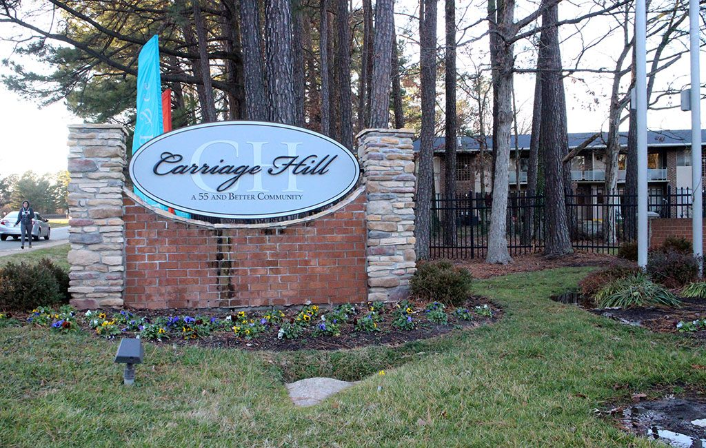 The 47-acre Carriage Hill complex straddles both sides of Glenside Drive and totals 664 apartments, most of which were built in 1967. (Jonathan Spiers)