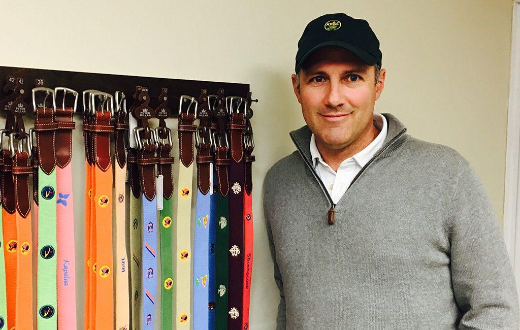 Steve Dewalle with a selection of JT Spencer belts.
