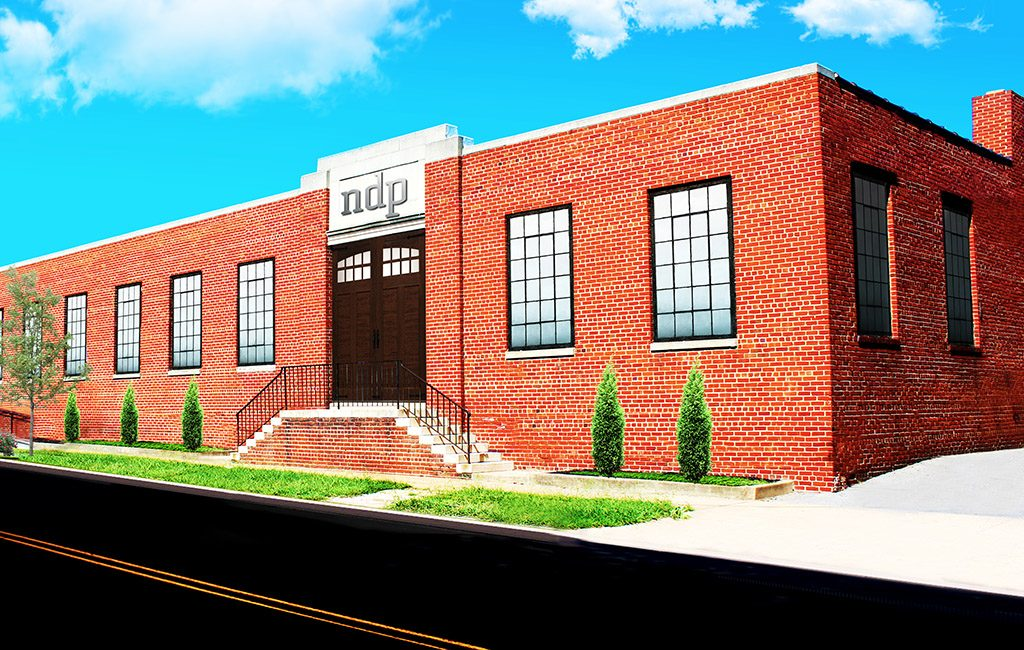 A rendering of ndp signage on the 15,900-square-foot space in Scott's Addition. (Courtesy ndp)