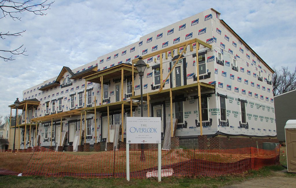 Five townhomes are being added beside the Overlook Condominiums in Oregon Hill. (Jonathan Spiers)