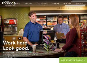 Randall Branding Agency's redesigned website for Ukrop's Dress Express.