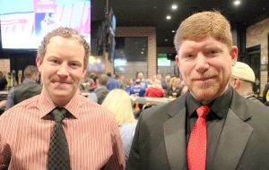 Anchor Bar chief operating officer Matt Foody, left, and franchise owner David Allred. (J. Elias O'Neal)