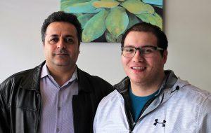 Afshin Mohammadi, left, and Victor Macias. (J. Elias O'Neal)