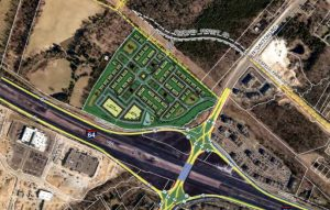 Duke Development is planning 209 townhomes and 8 acres of office space at 12600 Bacova Drive.