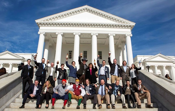 Members of the VDA and Virginia legislators celebrate at the State Capitol building. (Jay Paul Photography)