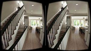A glimpse of what users see with Eagle's VR system.