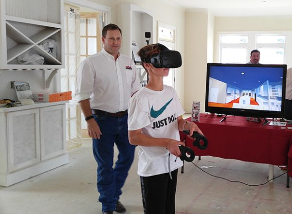 A trial run of LifeStyle Home's virtual reality software. Photo courtesy of LifeStyle.