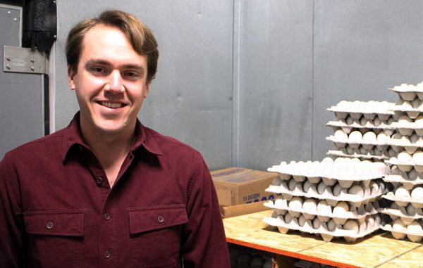 Kort Risser launched Duck Duck Eggs with his brother and father in 2016. (Mike Platania)