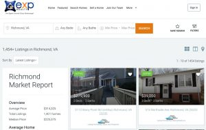 The eXp website displays just over 1,400 listings in the Richmond area.